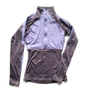 NIKE Women's Pro Dri-Fit Half Zip Running Shirt
